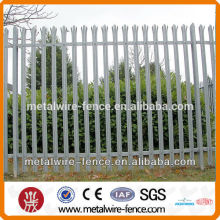 Uk type hot-dipped galvanized palisade fence