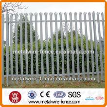 Uk type hot-dipped galvanized palisade fence