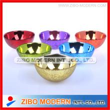Galvanoplastia Colorido Glass Bowl Home Decorar