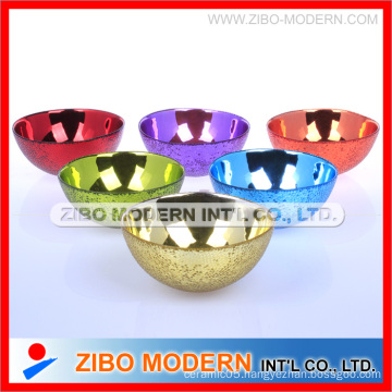 Electroplating Colorful Glass Bowl Home Decorate