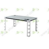 (ST-163) Home Furniture Korean Style Tempered Glass Dining Table