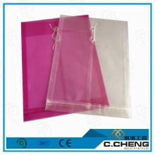 coloured plastic folders/trasparent string pp file folder