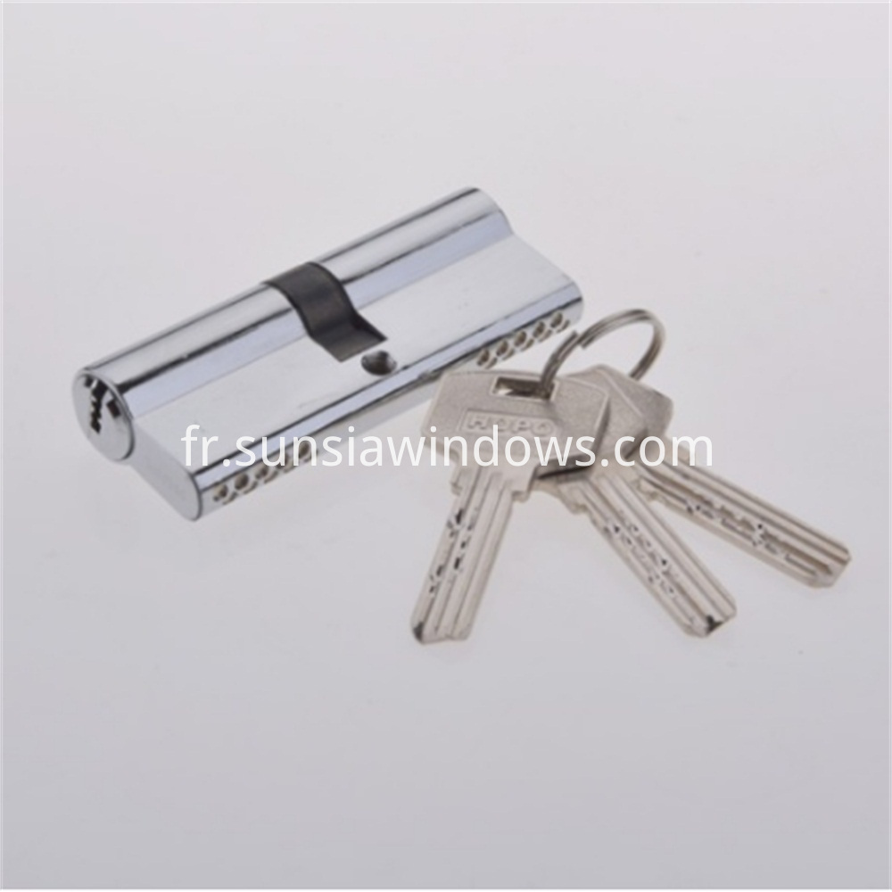 Easy to Install High Security Double Side Door Handle Lock, Top Security Euro Profile Brass Cylinder Lock,High Quality Cylinder