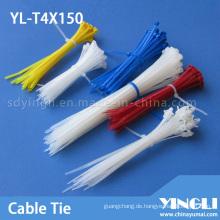 Einmalige Verwendung von Nylonkabelbindern (YL-T4X150)