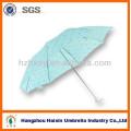 Three Folding Umbrella Polyester Fabric 21''*8K