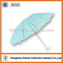 Three Folding Umbrella Polyester Fabric 21''*8K