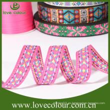 Cintas al por mayor baratas con la insignia de encargo, tejida / cinta del bordado del jacquard / para la venta (cintas nacionales)