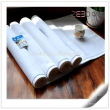 Rectangle Espessura Cotton Fabric Hotel Usado White Custom Bath Mat