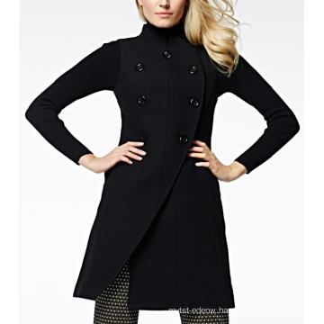 17PKCSC007 women double layer 100% cashmere wool coat