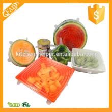 Multi Size 6 Couvercles en silicone Couvertures de nourriture et de bol