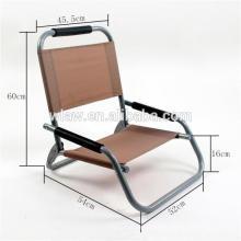 Cadeira de jardim dobrável de baixo assento durável