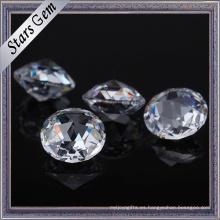 Piedras cúbicas de la CZ de Zirconia del corte brillante del color blanco claro de alta calidad para la venta