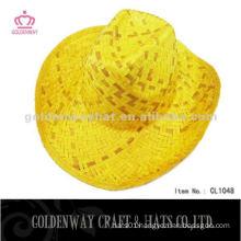 2012 hot selling yellow cowboy straw hat