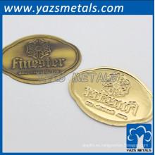personalizar las etiquetas de los muebles de metal con el emblema