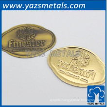 customize metal furniture labels with emblem