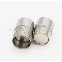 BX001 2/3/4/5/6/7 / 8MM Fecho magnético de aço inoxidável para pulseira de cabo de couro DIY jóias Apreciação amostra livre logotipo OEM