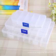10/15/24 ranuras caja de almacenamiento ajustable caja de plástico organizador de la casa granos de la joyería cajas