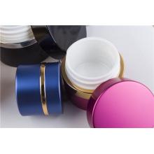 Frasco de creme facial multicolor acrílico para embalagem de cosméticos