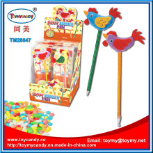 Novelty Rooster Chicken Ballpoint Pen Toy with Candy