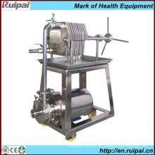 Máquina de filtro de prensa de placa y marco de acero inoxidable