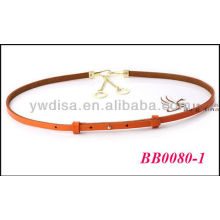Fashion Colored Fancy Ladies Leather Belts Wholesale With Size 0.9cmW*76cmL BB0080-1
