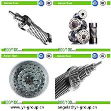 Linha de transmissão aérea de BS / ASTM / IEC cabo de alumínio 185/10 do condutor ACSR do condutor