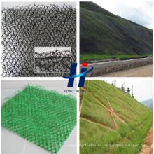 3D Geomat y tres dimensiones - Geomat dimensional y 3D Erosion Control Mat y plástico Geomat