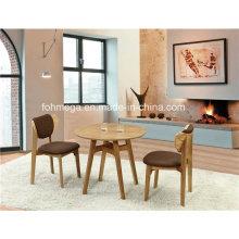 Round Wooden Coffee Shop Tisch 2 Sitzer zu verkaufen
