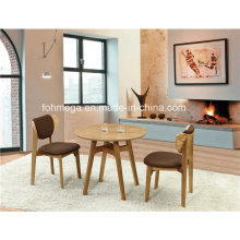 Round Wooden Coffee Shop Table 2 Seaters for Sale