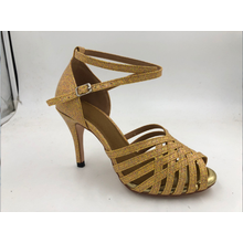 Guld latinska skor för tjejer CA