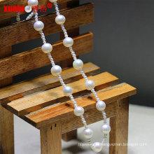 Мода Последние малые природные пресной воды круглый жемчуг ожерелье ювелирные украшения (E130093)
