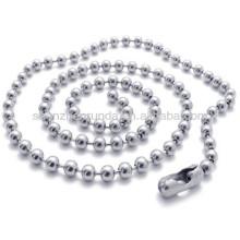 1.5mm largura aço inoxidável para homens mulheres unisex moda cadeia colar jóias
