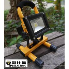 10W COB Super Bright LED Flood Light, luz de trabalho, recarregável, portátil ao ar livre, lâmpada de inundação / projeto, IP67