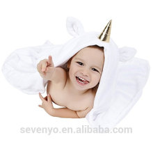 Baby towel organic Hooded baby towel 100% bamboo high quality super soft baby bath towel--Unicorn