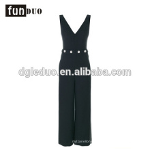2018 elegant Sexy Fashion Jumpsuit strip deep V fashional women Romper