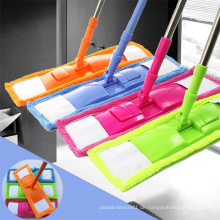 Mehrfarbiger magischer Ersatz-Mikrofaser-Fußboden China-Reinigungs-einfacher flacher Mopp