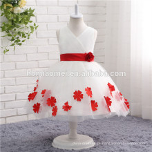 2017 nova moda Crianças Faixa Etária e In-Stock Items Tipo de Fornecimento vestidos da menina de flor