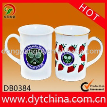 Taza de cerámica de 12 OZ al por mayor directa de la fábrica con el logotipo