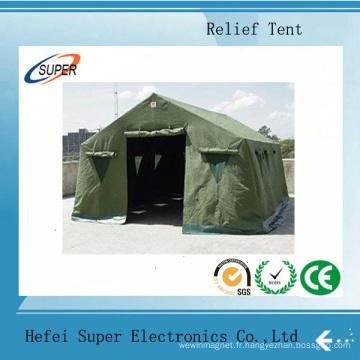 Tente de secours militaire robuste en toile imperméable