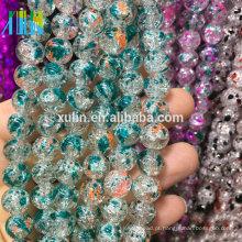 Importação 8mm vidro crackle contas jóias grânulos da china