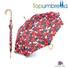 Guarda-chuvas de madeira moderna do punho guarda-chuva da vara de passeio Guarda-chuvas de madeira moderna do punho guarda-chuva da vara de passeio da luz