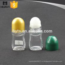 Мини-оптовый пустой крен на стеклянной дезодорант контейнер с полипропиленовой Резьбовой крышкой для продажи 50г