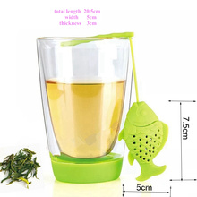 Creative Little Fishing Fish Shape Silicone Tea Infuser