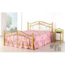 Золотая металлическая простая кровать (605-A)