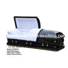 Caixão de madeira sólida (ANA) para serviços funerários