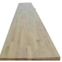 Bancada de cozinha de madeira Iroko
