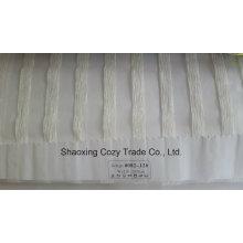 Nouveau tissu de rideau transparent Organza VoIP à rayures de projet populaire 0082126