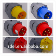 LP-012 16A-9H 200-250V 3P+E IP44 CE INDUSTRIAL PLUG COUPLER