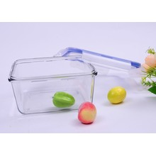 800ml Square Pyrex recipiente de alimentos de vidro