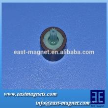 Imán de ferrita polos múltiples para el motor del ventilador de refrigeración del vehículo / anillo de imán multipolar con rotor de plástico